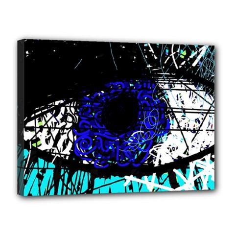 Blue eye Canvas 16  x 12