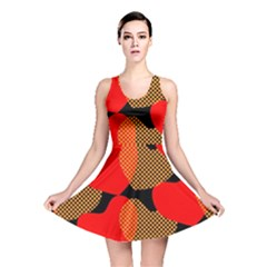Heart Pattern Reversible Skater Dress
