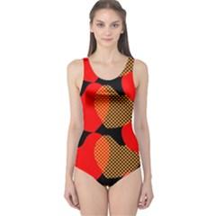 Heart Pattern One Piece Swimsuit