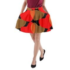 Heart Pattern A-Line Pocket Skirt