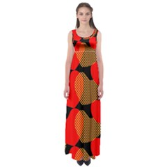 Heart Pattern Empire Waist Maxi Dress