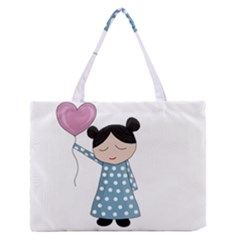 Valentines day girl Medium Zipper Tote Bag