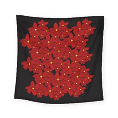 Red Bouquet  Square Tapestry (small)