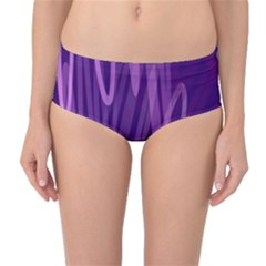 The Background Design Mid-Waist Bikini Bottoms
