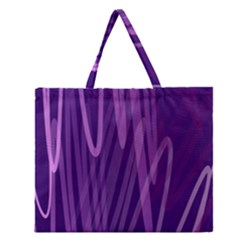 The Background Design Zipper Large Tote Bag