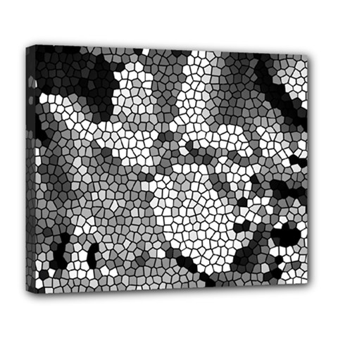 Mosaic Stones Glass Pattern Deluxe Canvas 24  X 20