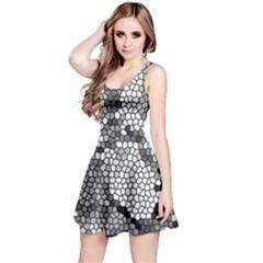 Mosaic Stones Glass Pattern Reversible Sleeveless Dress