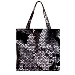 Mosaic Stones Glass Pattern Zipper Grocery Tote Bag