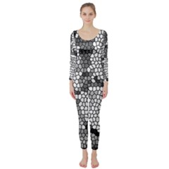 Mosaic Stones Glass Pattern Long Sleeve Catsuit