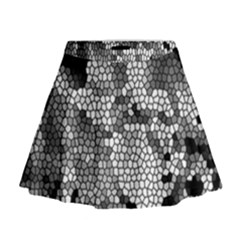 Mosaic Stones Glass Pattern Mini Flare Skirt