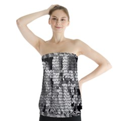 Mosaic Stones Glass Pattern Strapless Top