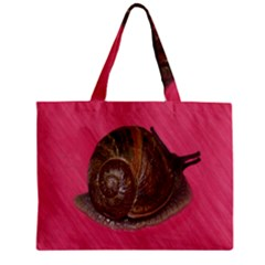 Snail Pink Background Mini Tote Bag