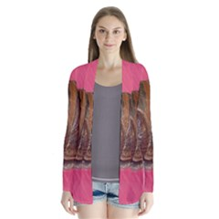 Snail Pink Background Cardigans