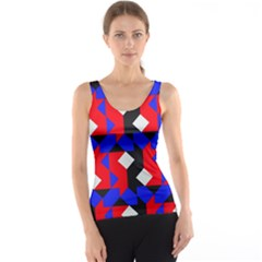 Pattern Abstract Artwork Tank Top