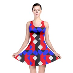 Pattern Abstract Artwork Reversible Skater Dress