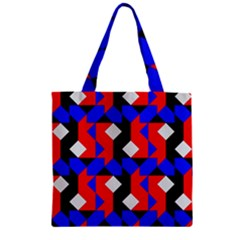 Pattern Abstract Artwork Zipper Grocery Tote Bag