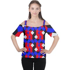 Pattern Abstract Artwork Women s Cutout Shoulder Tee