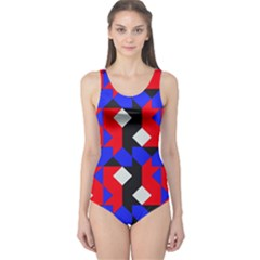 Pattern Abstract Artwork One Piece Swimsuit