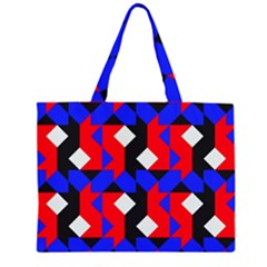 Pattern Abstract Artwork Zipper Large Tote Bag