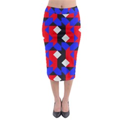 Pattern Abstract Artwork Midi Pencil Skirt