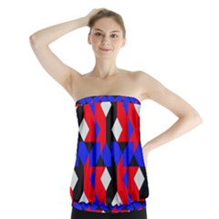 Pattern Abstract Artwork Strapless Top