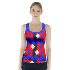 Pattern Abstract Artwork Racer Back Sports Top