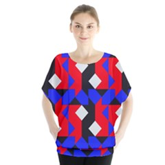 Pattern Abstract Artwork Blouse