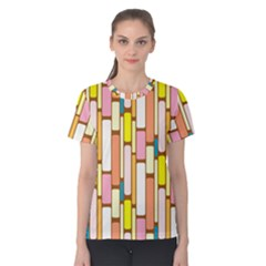 Retro Blocks Women s Cotton Tee