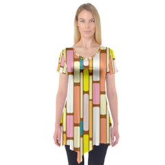 Retro Blocks Short Sleeve Tunic