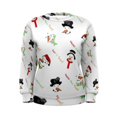 Snowman Christmas Pattern Women s Sweatshirt