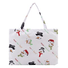 Snowman Christmas Pattern Medium Tote Bag