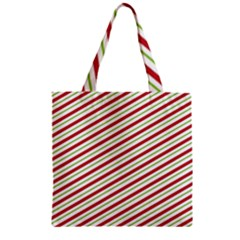 Stripes Zipper Grocery Tote Bag