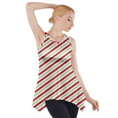 Stripes Side Drop Tank Tunic