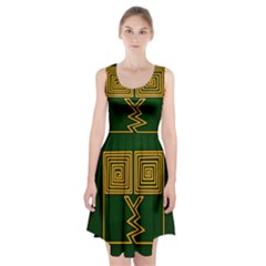 One Stroke Owl Racerback Midi Dress