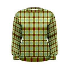 Geometric Tartan Pattern Square Women s Sweatshirt