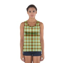 Geometric Tartan Pattern Square Women s Sport Tank Top