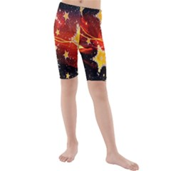 Holiday Space Kids  Mid Length Swim Shorts