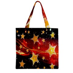 Holiday Space Zipper Grocery Tote Bag