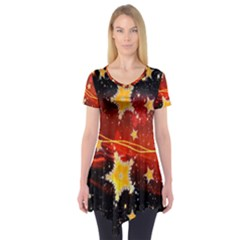 Holiday Space Short Sleeve Tunic