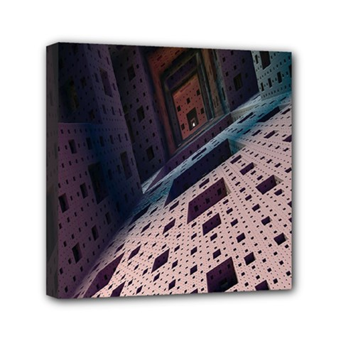 Industry Fractals Geometry Graphic Mini Canvas 6  X 6