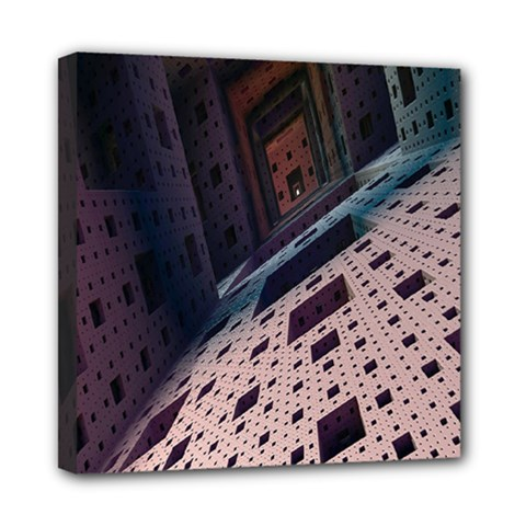 Industry Fractals Geometry Graphic Mini Canvas 8  x 8