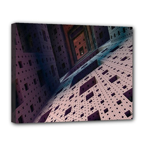 Industry Fractals Geometry Graphic Canvas 14  x 11
