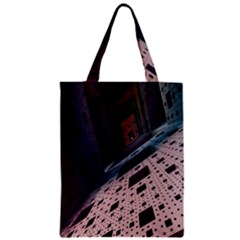 Industry Fractals Geometry Graphic Zipper Classic Tote Bag