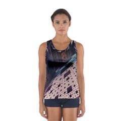 Industry Fractals Geometry Graphic Women s Sport Tank Top