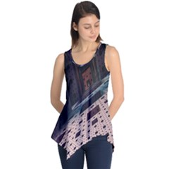 Industry Fractals Geometry Graphic Sleeveless Tunic