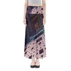 Industry Fractals Geometry Graphic Maxi Skirts