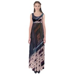 Industry Fractals Geometry Graphic Empire Waist Maxi Dress