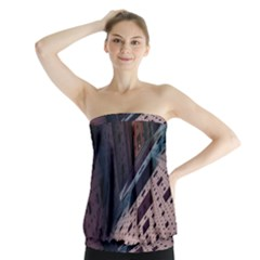 Industry Fractals Geometry Graphic Strapless Top