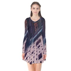 Industry Fractals Geometry Graphic Flare Dress