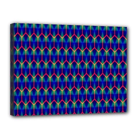 Honeycomb Fractal Art Canvas 16  X 12